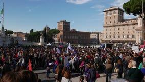 反政府抗议在罗马 股票视频