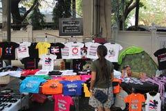 反政府抗议者的产品 免版税库存照片
