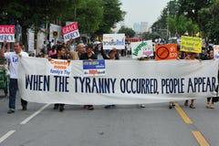 反政府抗议 库存照片