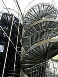 反映台阶的火 免版税库存照片