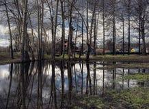 反映在池塘 莫斯科 库存图片