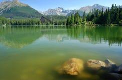 反映在Mountain湖 库存照片