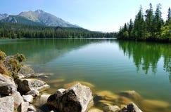 反映在Mountain湖 免版税库存照片
