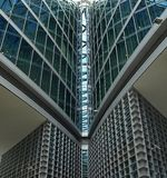 反映有玻璃architekture的摩天大楼 免版税库存图片