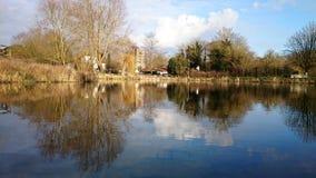 反映的湖 库存图片