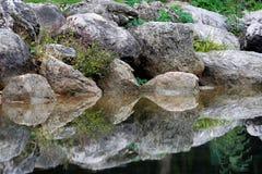 反映石头 免版税库存图片