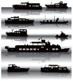 反映船 库存例证