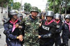 反特赦比尔集会在曼谷 库存照片