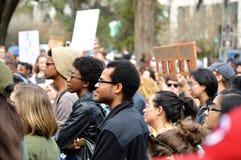 反王牌抗议塔拉哈西,佛罗里达 免版税库存照片