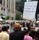 反王牌集会, NYC, NY,美国 免版税库存照片