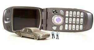 反移动电话或Texting概念 免版税库存照片
