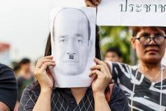 反突然行动抗议泰国25/5/2014 免版税库存图片