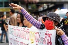 反突然行动抗议泰国25/5/2014 库存照片