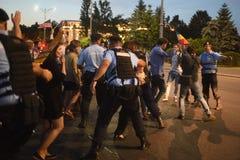 反罗马尼亚` s上面法院抗议,布加勒斯特,罗马尼亚- 5月30日20日 免版税库存照片