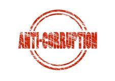 反腐败红色不加考虑表赞同的人 库存照片
