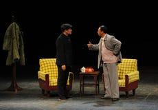 反腐败人民的毛泽东和天狮Jiaying剪影秘书进入大阶段 库存图片