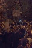 反腐败在2017年1月22日的布加勒斯特抗议 库存照片