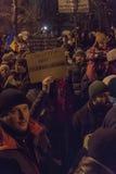 反腐败在2017年1月22日的布加勒斯特抗议 免版税库存图片