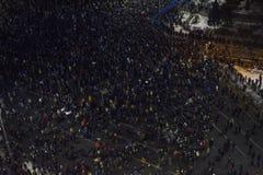 反腐败抗议在布加勒斯特 库存图片