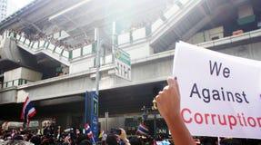 反腐败海报曼谷 免版税库存图片