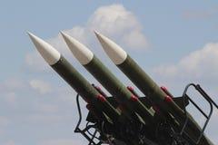 反航空器导弹 免版税库存图片