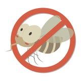 反蚊子标志IV 皇族释放例证