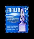 反覆无常时代,马耳他serie的历史,大约1965年 图库摄影