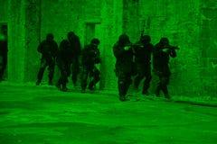 反警察细分恐怖分子 图库摄影