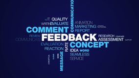 反馈概念评论通信顾客企业股份信息客户端消息观点给词云彩赋予生命 向量例证