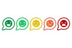 反馈红色,橙色,黄色和绿色意思号等级量表  库存图片