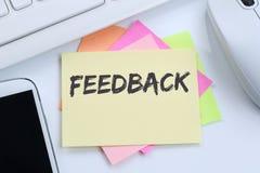 反馈联络顾客服务意见调查企业concep 免版税库存照片