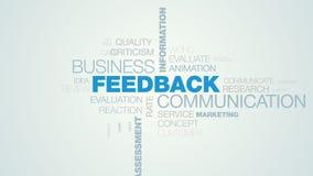 反馈通信企业信息答复客户评论消息观点评估对估计的生气蓬勃的词云彩 皇族释放例证