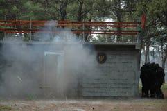反暴力恐怖份子的单位房子004 库存照片