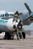 反暴力恐怖份子的单位训练  库存图片