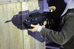 反暴力恐怖份子的训练 库存照片