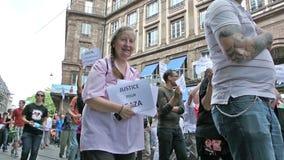 反以色列抗议在史特拉斯堡,法国 库存照片