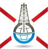 反Fracking标志 免版税库存照片