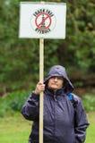 反Fracking 3月- Malton - Ryedale -北部Yortkshire -英国 库存照片