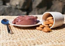 反oxidents的Acai浆果超级食物富有 免版税库存图片
