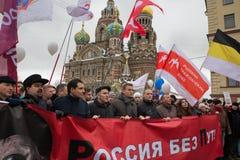 反Putin集会 免版税库存照片