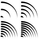 发信号形状,普通四分之一圈子,弯的线与differen 免版税库存照片