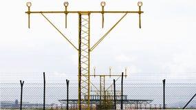 发信号方法对简易机场 免版税库存照片