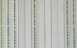 发信号的警报摘要盘区与被带领的绿色 库存照片