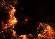 发光与热摘要与空的空间的分数维backround 免版税库存照片