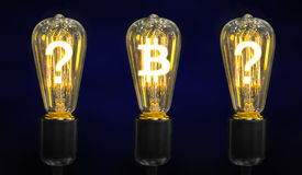 发光世界货币的标志的灯 库存照片