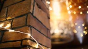 发光在墙壁和天花板上的诗歌选 股票视频