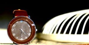 发光在阳光下的手表 库存照片