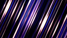 发光在黑backgroundand转动,无缝的圈的淡光的平直的紫色线 平行的明亮的光芒 向量例证