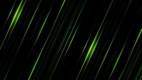 发光在黑backgroundand转动,无缝的圈的淡光的平直的绿线 平行的明亮的光芒 皇族释放例证