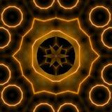 发光无缝的星圈子样式金子的褐色 皇族释放例证